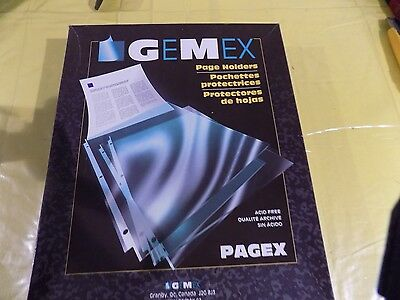Gemex Page Holders Box of 100 No. PP2119