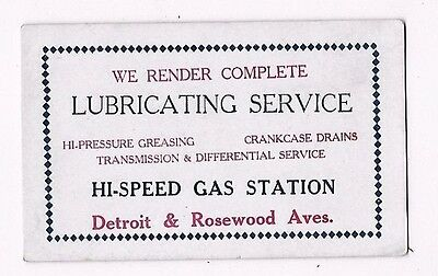 Vintage HI-SPEED GAS STATION Lakewood Cleveland Ohio Blotter gasoline