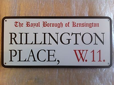 10 Rillington Place Street Sign. Detailed Copy.Vintage Style. In new condition