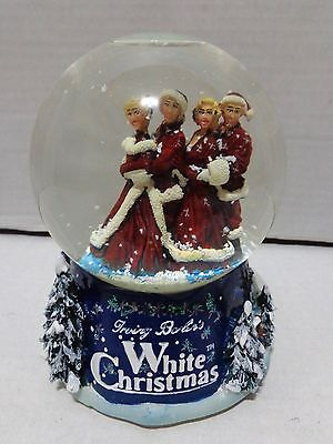 Irving Berlin Bing Crosby White Christmas Musical Snow Globe 2000