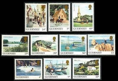 GUERNSEY 286 // 301 Assorted LANDSCAPE ISSUE Singles MNH SEE PHOTOS Lot R-243