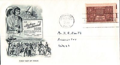 United States Indian Centennial First Day Cover 1948