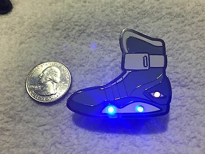 Back To The Future Air Mag Shoes Light Up Version Lapel Pin Free Shipping in USA