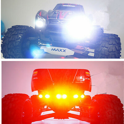 Nylon Keel Front and Rear Lamp Holder with LED set for Traxxas X-MAXX XMAXX