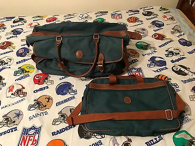 Vintage Polo Ralph Lauren Travel Duffle Bag Set With Smaller Tote Bag