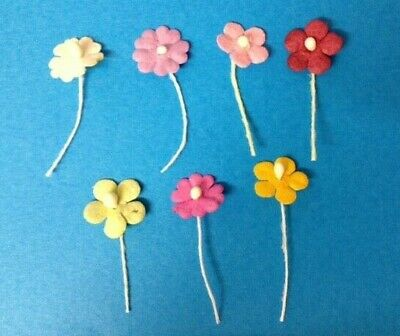 100 Mini Mulberry Flowers - Choice Of Colour - Card Making Craft Embellishments