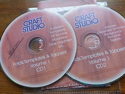 My CRaft Studio , folds Templates & toppers double cd