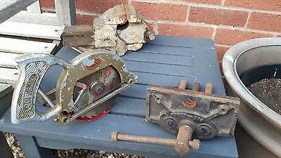 woden engineering vice, 194 carpenters vice and quicksaw job lot