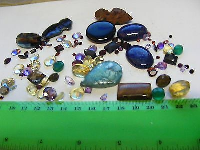 Lot of 92 Gemstones....Most Faceted,some cabochon,natural stones.Wide variety.