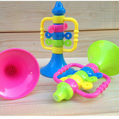 Baby Cute Trumpet Speaker Children Musical Instruments Educational Hooter Toy MW