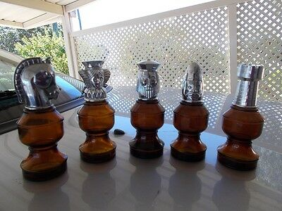 Vintage Avon Chess Pieces Bottles,King,Queen,Knight,Bishop and Rook