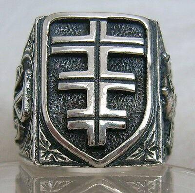 CHRISTIAN RING Pope Cross STERLING 925 SILVER