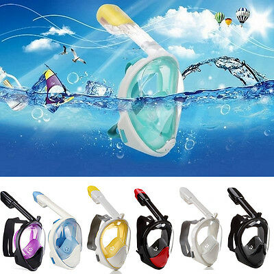 Swimming Diving Breath Full Face Snorkel Mask 180° View Scuba Surface for GoPro