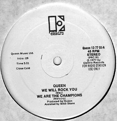 "Queen ‎– We Will Rock You / We Are The Champions - 12"" INCH"