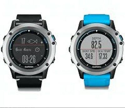 Garmin Quatix 3 Marine GPS Smartwatch with Leather and Silicone Bands