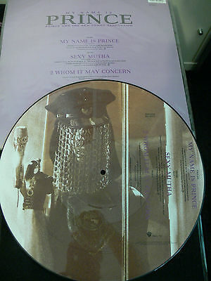 """Prince Collectors Edition 1992 12"""" Vinyl Single Picture Disc - My Name Is Prince"""