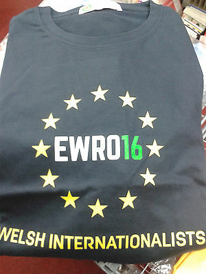 Wales football Spirit of 58 Ewro 16 Welsh Internationalists t-shirt XL Navy