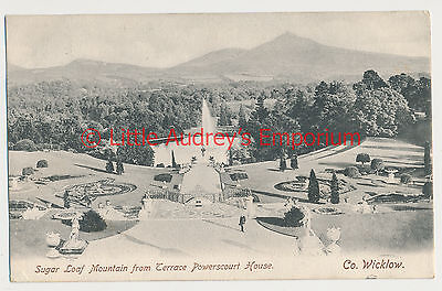 Old Postcard Sugar Loaf Mountain Terrace Powerscourt House Posted 1905 AL454