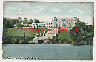 Old Postcard Powerscourt House co Wicklow Local Publish Posted 1905 AL459