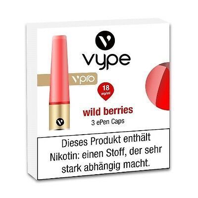 Liquidpatrone Vype Epen vpro Wild Berries Refill 18 mg/ml à 3 Caps / 84538