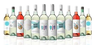 Premium AU and NZ White Wine Mix Case-Moscato-Rose-Sauv Blanc (12x750ml)