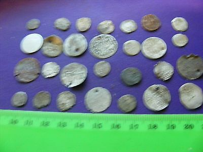 Lot of 28 Ottoman Silver Coins,Fourree coins,mixed condition used.(A).