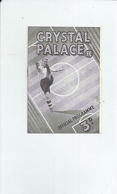 Crystal Palace v Aberdeen Friendly Football Programme 1947/48
