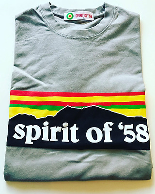 Wales football Spirit of 58 Snowdonia Peaks t-shirt BNWT Large Ash Grey