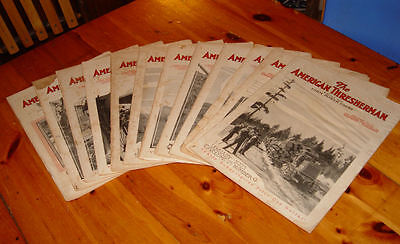 Rare and early American Thresherman Magazine's ~ Full 1923 year Farm Tractors