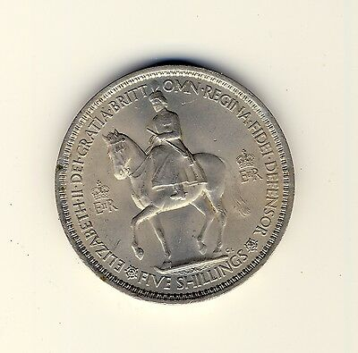 1955 UK coin Five Shillings