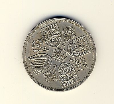 1960 UK coin Five Shillings