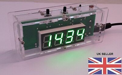 Electronics Kit,diy Digital Clock Kit With Case And Usb Power Lead