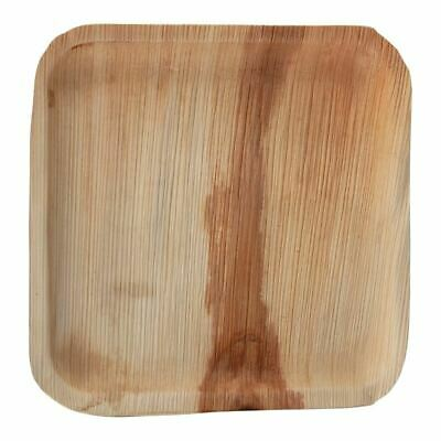 Pack of 100 Fiesta Palm Leaf Plate Square 250mm Wood