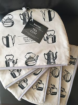 Booths Tea Cosy- Padded, 100% Cotton, Gift, Housewarming, Teapot