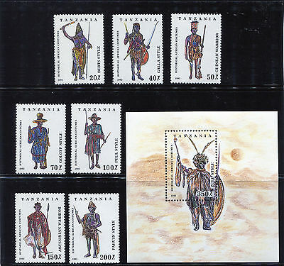 Tanzania Historical African Costumes Stamps  MNH Complete Set 1193-1200 African