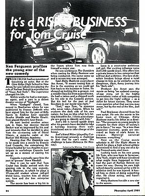 It's A Risky Business For Tom Cruise Article & Picture(S)