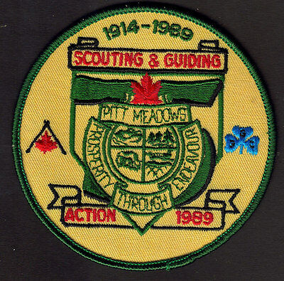 Boy Scouts Guides Canada 75 Years Pitt Meadows B.c. 1989 Anniversary Patch