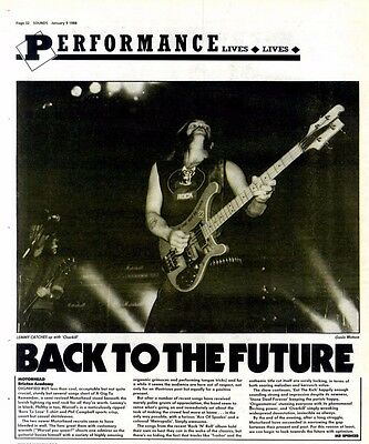 9/1/88pg32 Live Review & Picture, Motorhead - Brixton Academy