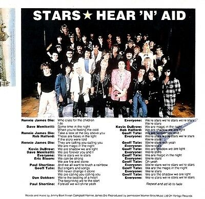 Shv8/10P60 Stars : Hear 'n' Aid Songwords