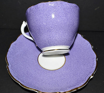 Coalport - Cup And Saucer Bone China Purple/mauve