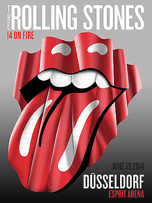 The Rolling Stones 14 On Fire Tour Poster Dusseldorf Germany 2014 Promo Poster