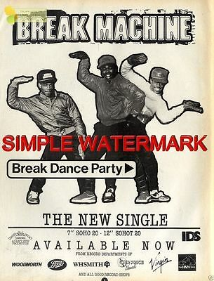 Sh84-23/5P08 Break Machine : Break Dance Party Single Advert 11X8""