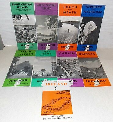 9 Different Locations 1952-1953 Travel To Ireland Brochure