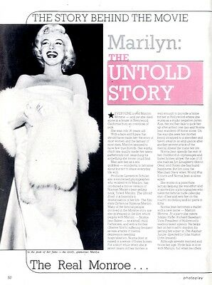The Story Behind The Movie ; Marilyn Monroe The Untold Story Article & Picture(S