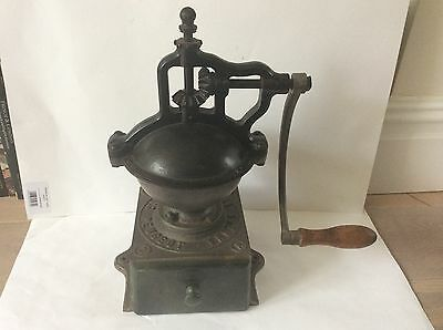 Antique Cast Iron French Coffee Grinder mill Peugeot A2