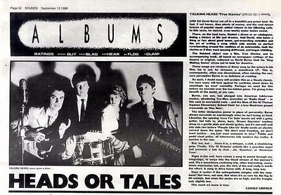 "13/9/86pg32 Album Review & Picture, Talking Heads ""true Stories"""