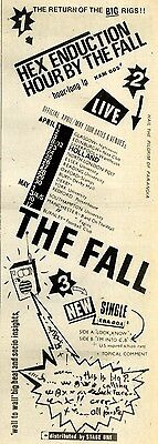 3/4/1982Pg15 Album Dates Advert 15x5 The Fall, Hix Education Hour