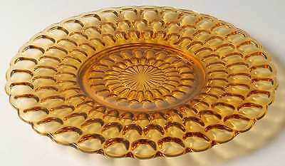 Fenton THUMBPRINT COLONIAL AMBER Luncheon Plate 6511234