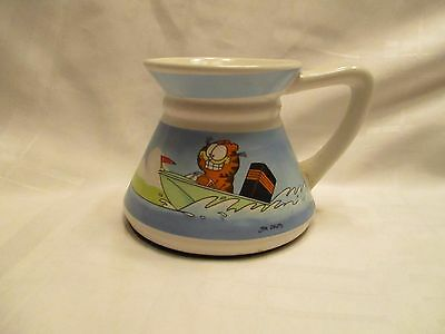 Vintage Garfield the Cat in Boat Coffee Cup Mug Enesco 1978 Jim Davis