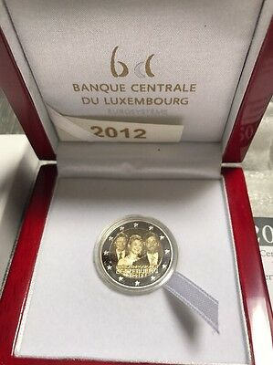 2 Euro  BE PP Luxembourg 2012  Mariage Princier